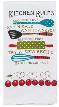 "Flour Sack Towel - ""Kitchen Rules"""