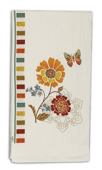 "Flour Sack Towel - ""Spice Bouquet"""