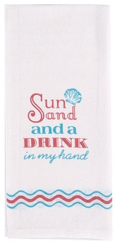 "Flour Sack Towel - ""Sun And Sand ..."""