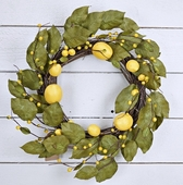 "Flower Wreath - ""Tuscany Lemon Wreath"" - 22 Inch"