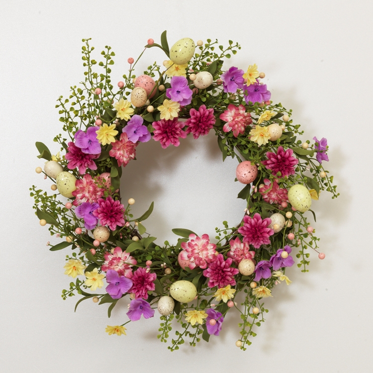 "Flower Wreath - ""Twig Easter Egg and Flower Wreath"""
