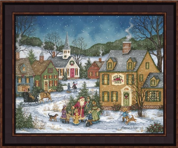 "Framed Print - ""St Nick"" - 16in x 20in - Artist Bonnie White"