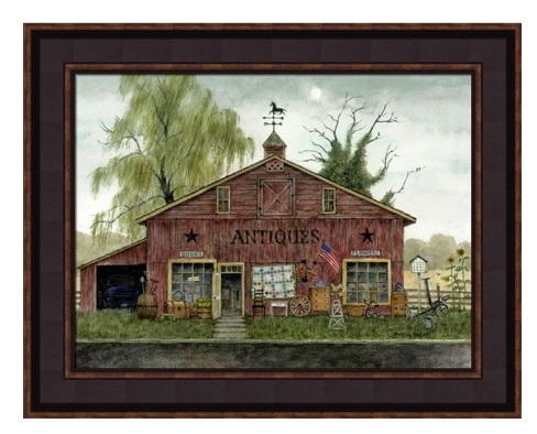 "Framed Picture - ""Antique Barn"" - Artist Bonnie Fisher"