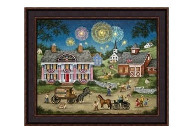 "Framed Print - ""Big Bang"" - 16in x 20in - Artist Bonnie White"