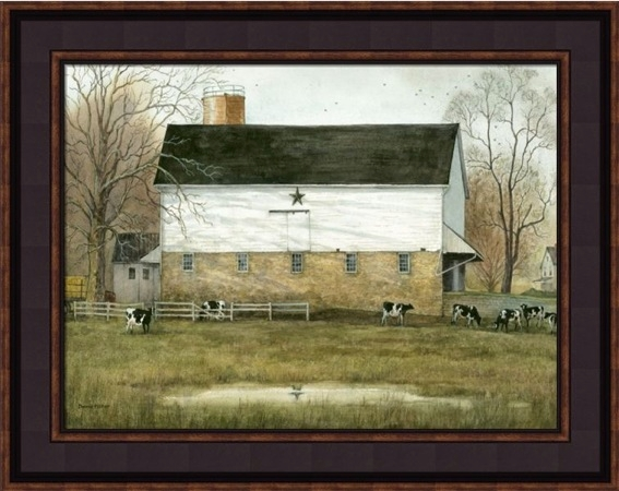 "Framed Print - ""Black Star Barn"" -12in x 16in - Artist Bonnie Fisher"
