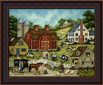 "Framed Print - ""Fresh Milk"" - 16in x 20in - Artist Bonnie White"