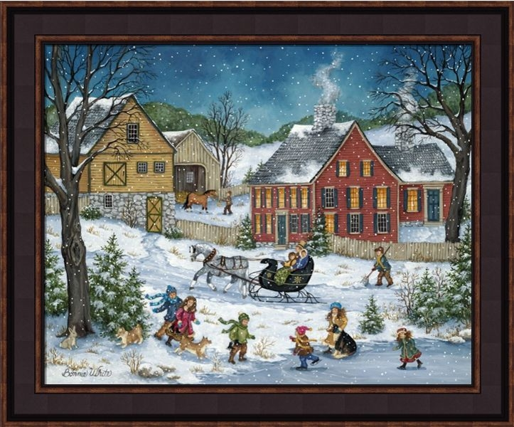 "Framed Print - ""How's The Ice"" - 16in x 20in - Artist Bonnie White"