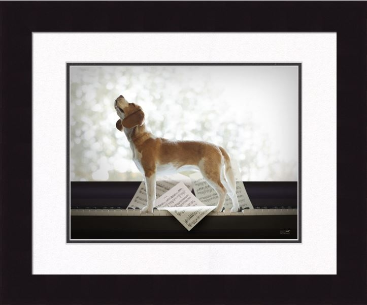 "Framed Picture - ""Melody - Beagle"" - 16in x 20in - Artist Ron Schmidt"