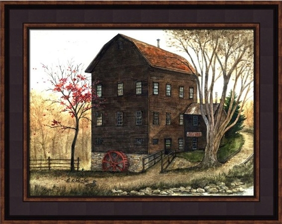 "Framed Print - ""Mill"" - 12in x 16in - Artist Bonnie Fisher"