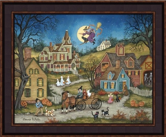 "Framed Print - ""The Witching Hour"" - 16in x 20in - Artist Bonnie White"