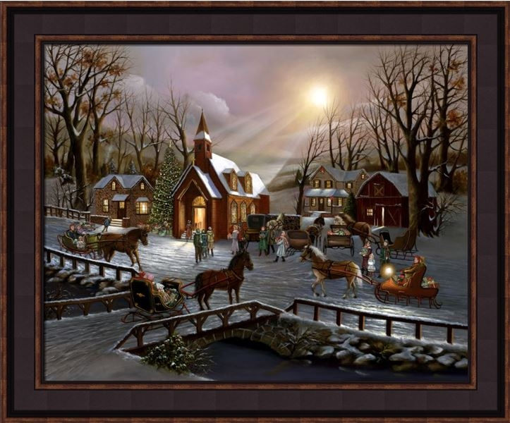 "Framed Print - ""A Christmas Wish"" - 16in x 20in - Artist H Hargrove"