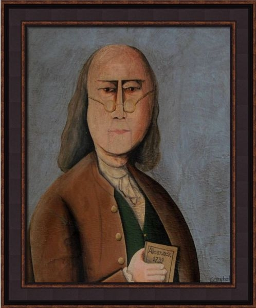 "Framed Print - ""Ben Franklin"" - 16in x 20in - Artist Tim Campbell"