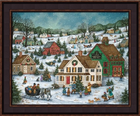Framed Print - Christmas Tree Hill - 16x20 - Bonnie White