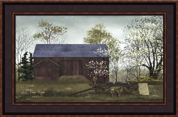 "Framed Print  - ""Flower Wagon"" - 12in x 16 in - Artist Billy Jacobs"