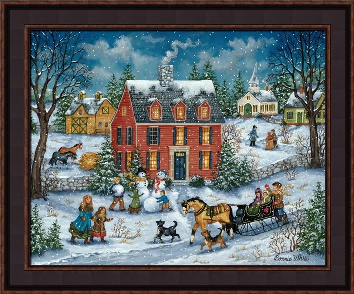 "Framed Print - ""Hitching a Ride"" - 16in x 20in - Artist Bonnie White"