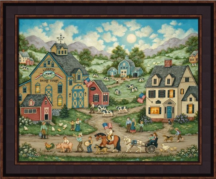 "Framed Print - ""Liberty Farm Stand"" - 16in x 20in - Artist Bonnie White"