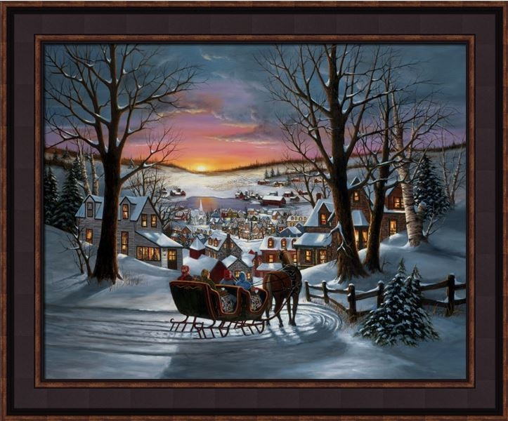 "Framed Print - ""Peace on Earth"" - 16in x 20in - Artist H Hargrove"