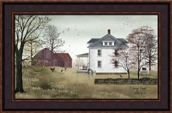 "Framed Print  - ""Spring Fever"" - 14in x 22 in - Artist Billy Jacobs"