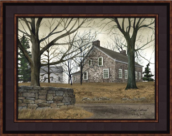 "Framed Print  - ""Stone Cottage"" - Artist Billy Jacobs"