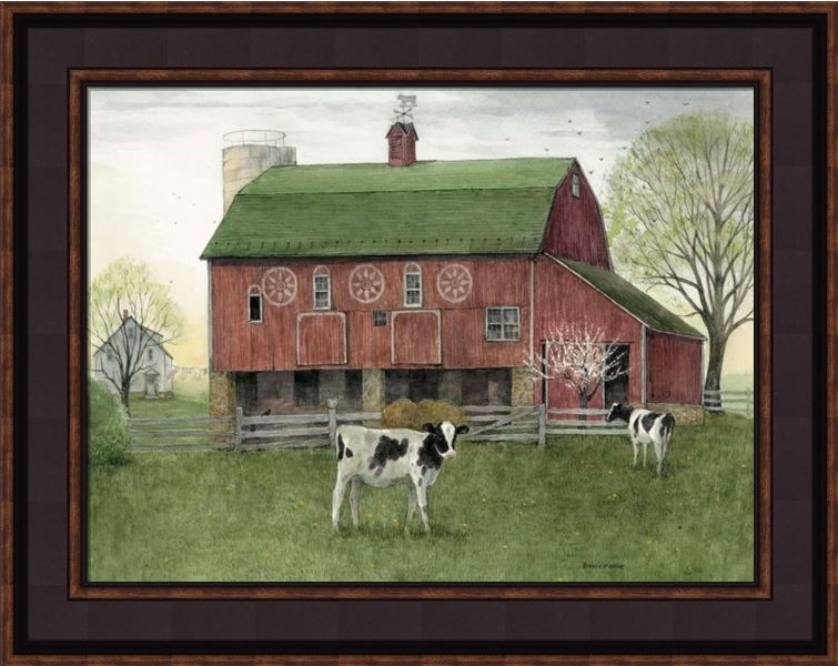 "Framed Print - ""The Calf"" - 12in x 16in - Artist Bonnie Fisher"