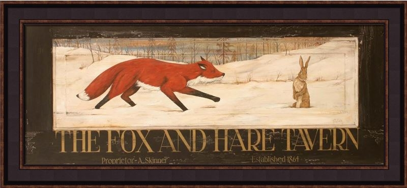 "Framed Print - ""The Fox and Hare Tavern"" - 30in x 12in - Artist Terri Palmer"