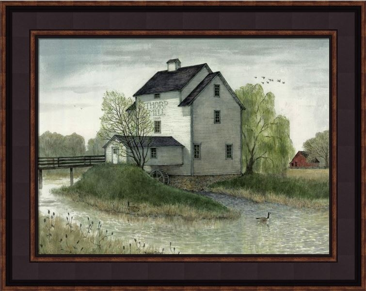 "Framed Print - ""Thorpe Mill"" - 12in x 16in - Artist Bonnie Fisher"