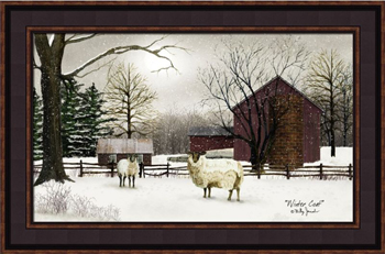 "Framed Print - ""Winter Coat"" - 14in x 22 in - Artist Billy Jacobs"