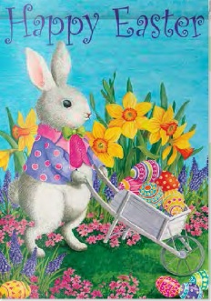 Spring and easter gifts holiday and seasonal decor garden flag happy easter garden negle Image collections