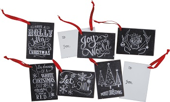"Gift Tags - ""Chalk Christmas Gift Tags"" - Set of 6"