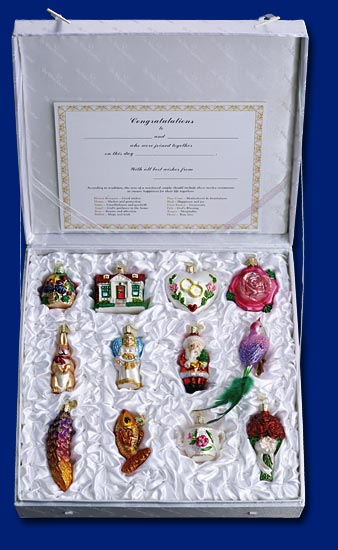 """Glass Ornament Gift Sets - """"Weddings, New Baby!"""""""