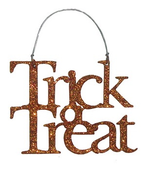 "Halloween Ornament - ""Trick Or Treat"""