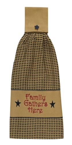 "Hand Towel - ""Family Gathers Here Hand Towel"""