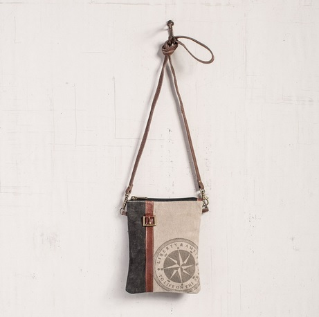 "Handbag - ""Mona B - Compass Crossbody Bag"""