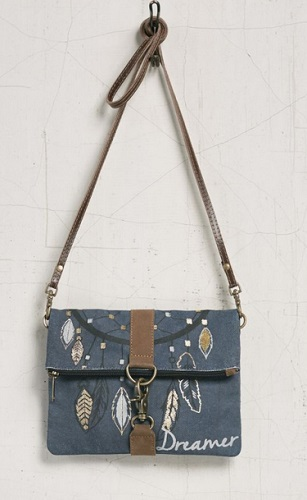 "Handbag - ""Mona B -Dreamer Fold Over Crossbody Bag"""