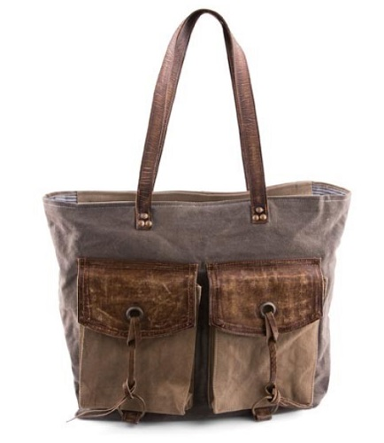 "Handbag - ""Mona B -Flaps N Strings Shoulder Bag"""