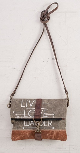"Handbag - ""Mona B - Live Love Wander Crossbody Bag"""