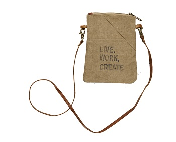 "Handbag - ""Mona B - Live, Work, Create Crossbody Bag"""