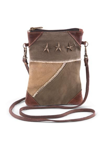 "Handbag - ""Mona B - Tri Corner Crossbody Bag"""