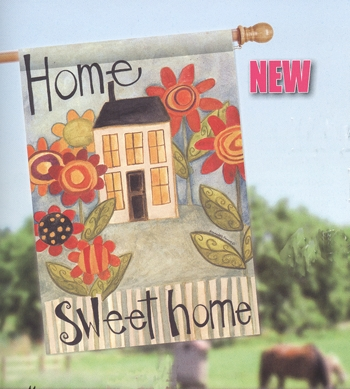 house flag home sweet home house - Decorative House Flags