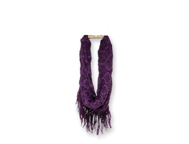 "Infinfity Scarf - ""Infinity Fringe Scarf - Purple"""