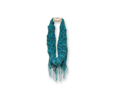 "Infinfity Scarf - ""Infinity Fringe Scarf - Teal"""