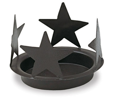 "Jar Candle Holder - ""Black Star"""
