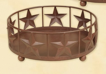 "Jar Candle Holder - ""Large Star Jar Candle Holder"""
