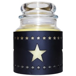 "Jar Candle Sleeve - ""Star Candle Sleeve"""