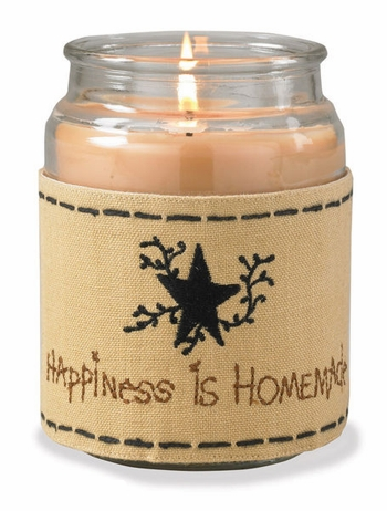 "Jar Candle Wrap - ""Happiness is Homemade Candle Wrap"""