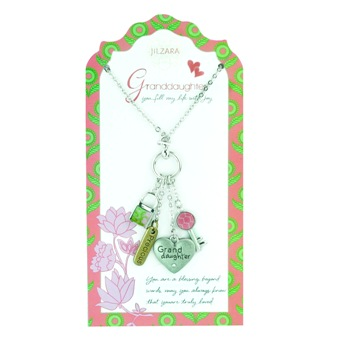 "Jilzarah Necklace - ""People We Love Necklaces - Granddaughter"""