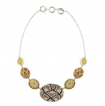 "Jilzarah� Cobblestone Necklace - ""Sandcastle"""