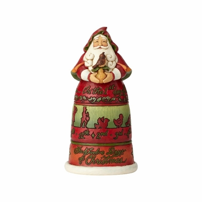 "Jim Shore Figurine - ""12 Days of Christmas Santa"" - 2018"