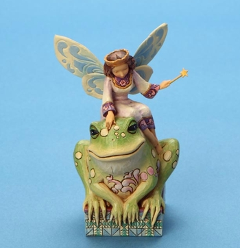 "Jim Shore Figurine  -  ""Have You Kissed A Frog Today....Fairy Princess and  Frog Figurine"""