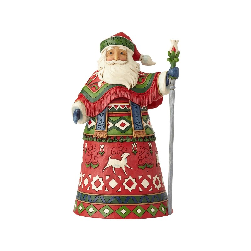 "Jim Shore Figurine - ""Lapland Santa with Staff"" - 2018"